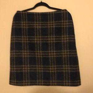 Boden Wool Plaid British Tweed Skirt Size US 12L